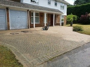 Pressure washing drive in Bournemouth